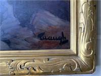 Frederick Judd Waugh. Oil on Masonite Board