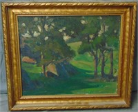 Charles O. Winter. Oil on Board.