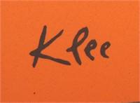 "Paul Klee Lithograph, ""Head of a Man"""