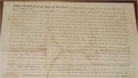 1817 New York State Transfer of Property Survey