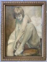 "Pal Fried (1893-1976) Oil on Canvas, ""Ballerina"""
