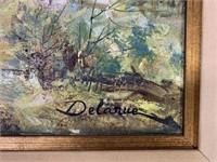 Lucien Delarue, Oil on Canvas Landscape