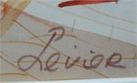 "Charles Levier Watercolor, ""Paris Street Scene"""