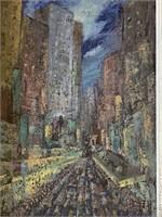 Samuel Sigaloff, Oil on Canvas Painting