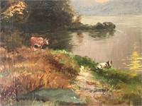 Jasper Francis Cropsey  (1823 - 1900) Oil.