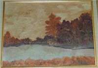 Oil on Canvas Henriette. Landscape.