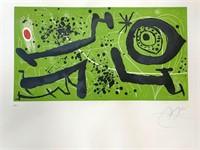 "Joan Miro, ""Picasso I Els Reventos"" Etching"