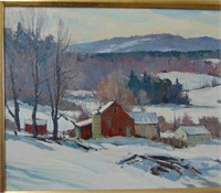 Bernard Corey. Oil on Panel.