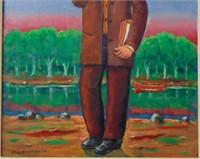Maurice Kish  (1895 - 1987) Oil on Board.