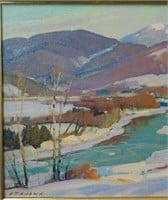 Aldro T. Hibbard. Oil on Panel.