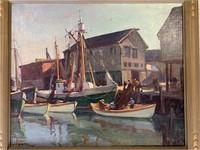 Emile Albert Gruppe. Oil on Canvas,
