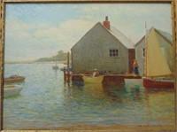 Charles D. Cahoon. Oil on Panel.