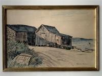 Harold C. Dunbar. Watercolor on Paper.