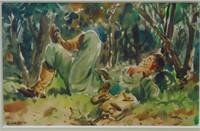 Henry Martin Gasser, Watercolor