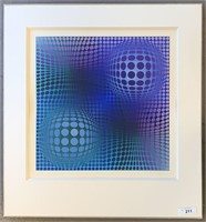 Victor Vasarely,  Hommage to Picasso, Screenprint