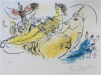 """Marc Chagall """"The Accordionist"""" Color Lithograph"""