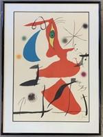 "Joan Miro Color Litho, ""Ode A Miro"""