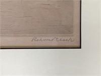 Roland Clark. Etching.