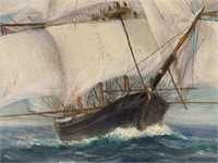 Bertha Davidson (Harrington) Hoxie. Oil on Canvas.