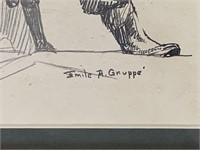 Emile Albert Gruppe. Charcoal.