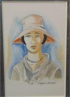 Stefan Hirsch  (1899 - 1964). Watercolor & Crayon