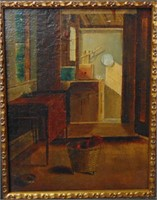 Oil on Canvas. American School.