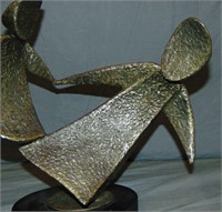 John Roper Abstract Metal Tabletop Sculpture