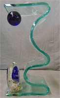 Rollin Karg Signed Art Glass Sculpture