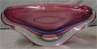 Luigi Onesto Murano Art Glass Bowl