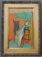 "Nonny Rosenman, Oil on Canvas ""Interior"""
