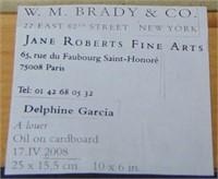 Delphine Garcia. Oil on Board.