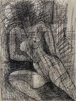 "Marcel Gromaire, Pen & Ink on Paper ""Nude"""