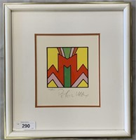 """Peter Max, Signed & Limited Litho """"Geometric #2"""""""