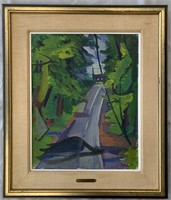 "Ben Benn, Oil on Canvas ""New England Landscape"""