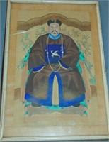 Pair of Asian Watercolors, King & Queen