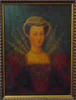 19th Century Oil on Wood. Portrait.