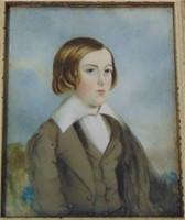 C. Herbert Ogg. Oil on Wood.