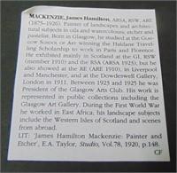 J Hamilton Mackenzie  (1875 - 1926) Watercolor.