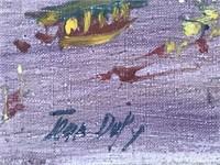 """Jean Dufy, Oil on Canvas, """"Arc de Triomph"""""""