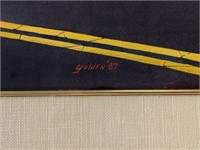 "Rolland Golden, W/c on Paper, ""Roadside Display"""