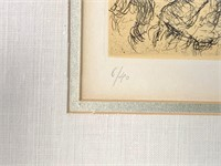 Chagall. Etching #4 Psalm #5 Edition of 40.