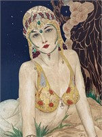 "Alberto Vargas, Color Serigraph ""Persian Princess"""