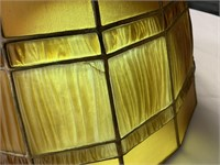 Large Tiffany Studios Linen Fold Lamp
