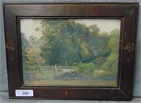 "James Thorpe Flaherty, Oil on Board ""Glenolden PA"""