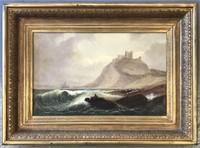 """James Thorpe Flaherty, Oil on Canvas """"Seascape"""""""