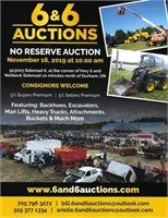 6&6 ONLINE-ONLY SMALL ITEMS AUCTION: NOVEMBER 16 2019