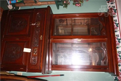 Antique Ornate Solid Wood Curiochina Hutch Other Items For