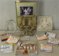 FAITH CD'S, BIBLE AND DECOR