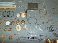 Estate lot of Gold, Silver and Watches.