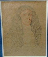 Circle of Sir Peter Lely. Chalk on Paper.
